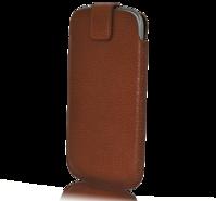SKINNFODRAL TILL SAMSUNG S3 / S4, BRUN